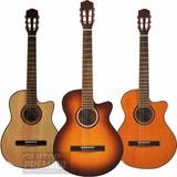 Guitarra Electroacustica C/ Corte Cuerdas De Nylon Funda Pua