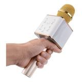 Microfono Inalámbrico Con Parlante Karaoke Bluetooth Dorado