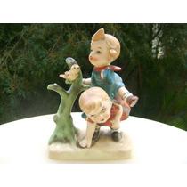 Figura Lipper Mann Niños Jugando Porcelana No Hummel Goebel