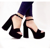 Sandalias Zapatos Stiletto Taco Palo Plataforma Mujer Moda