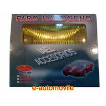 Jgo. Faro Halógeno Rectangular Tipo Duna (ambar)