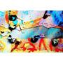 Cuadro De Pintura Abstracta En Tela Canvas S/bastidor 95x63