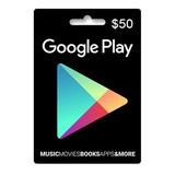 Tarjeta Google Play 50 U$ Usa | Entrega Inmediata- Gamer24hs
