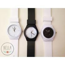 Reloj Unisex - Silicona - Blanco - Negro
