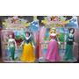Set Muñecos De Princesas Sirenita Blancanieves Cenicienta