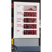 Cartel Numeral De Precios Combustibles Led Multimarca