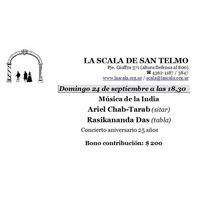 Entrada Concierto De Musica De La India - Sitar Y Tabla