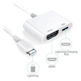 Adaptador Lightning Para iPhone iPad A Av Digital 1080 Hdmi