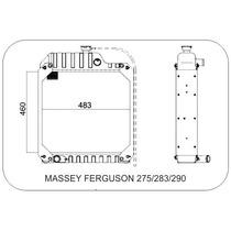 Radiador Tractor Massey Ferguson 275/283/290 Visconde