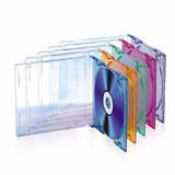 Caja Mini Dvd Cd Acrílica De Colores