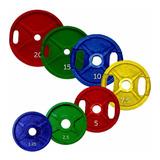 Discos Olimpicos Colores Fundicion 50mm Fdn X Kilo Pesas
