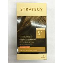 Strategy Rubio Oscuro Shampoo Colorante Hombres Tapa Canas
