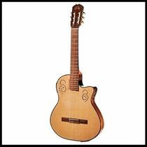 Guitarra Concierto La Alpujarra 300kec Funda Correa Cable