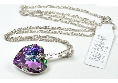 f0b17519b084 Collar Dije Multifasceteado Corazon Swarovski Elements - $ 1790 en ...