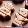 Molde De Silicona Robots Bots Bombones Chocolate