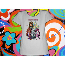 Remeras De Modal Estampada Monster High