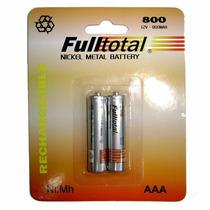 Pila Aaa Fulltotal 800 Mah Recargable Ideal Para Usar En Mp3