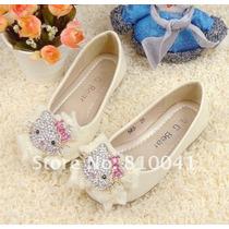 Divinos Zapatos De Nena Hello Kitty Con Brillitos