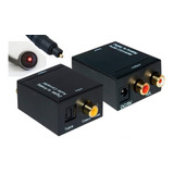 Conversor Digital Audio Toslink A Rca + Cable Optico 1 Mts
