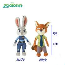 Peluches Zootopia Judy Hopps Nick Wilde Original 55 Cm.