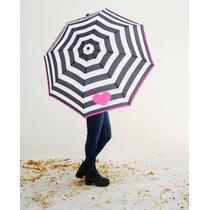 Paraguas Con Rayas Y Corazón