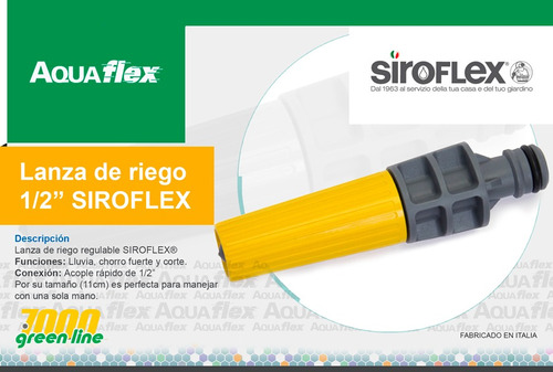 Lanza De Riego Regulable 1/2 Siroflex 7550 Aquaflex