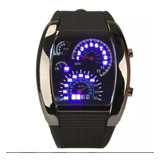 Reloj Led Pulsera Tacometro Tablero Auto Novedad Tuning