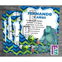 Monsters Inc. Candy Bar Personalizado Kit Imprimible Cumple