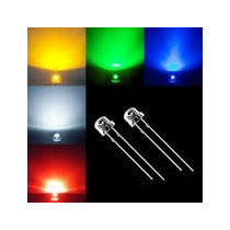 200 Led Alta Luminosidad 5mm Bombin Straw Hat Todos Colores