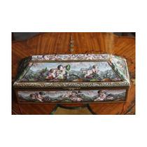 Antiguo Y Original Alhajero Capodimonte En Porcelana