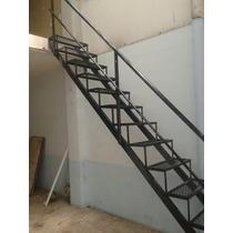 Escalera Recta Malla C/baranda