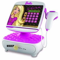 Caja Registradora Barbie De Tv Nuevo Modelo Violeta