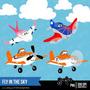 Kit Imprimible Piloto Aviones 2 Disney Imagenes Clipart