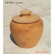 Lote Set Yerbera + Azucarera De Madera Virgen X 10 Jgos