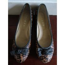 Zapatos Animal Print Taco Chino Espectaculares! 35