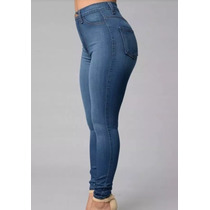 Pantalon Jeans Elaztizado Mujer Alto Talle Hast El 60 Chupin
