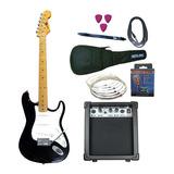 Combo Guitarra Electrica + Amplificador 10w + Accesorios