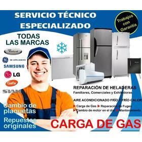Service Heladeras Reparacion Carga De Gas Tecnico Whirlpool