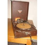 Antigua Victrola Fonografo Valija Funciona Marca Lord Picnic