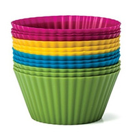 Pacote 12 formas Silicone Muffins e Cupcakes - 4 Cores MOR