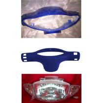 Juego Cubre Optica, Cubre Tablero Y Optica Gilera Smash Azul