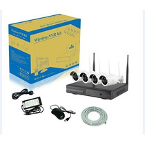 Kit Camara Seguridad Nvr Wireless - 4 Canales - Inalambrico