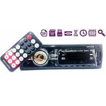 Stereo Auto Radio Usb Sd Aux Lcd Display Mp3 Control Remoto