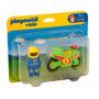 Playmobil 123 - 6719 Moto De Carreras + Piloto - Children