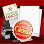 Papel Adhesivo Glossy! A4 - Candy Bar - Formas Especiales -