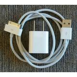 Cable Cargador Usb 2.0 + Adaptador Apple Original