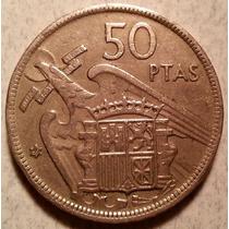 Moneda Del Reino De España De 50 Pesetas Del Año 1957