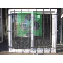 Aberturas: Ventana Aluminio Blanco Ent 100 X 90 C/vid Y Reja