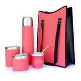 Set Matero Completo Equipo Mate Flexible Coral Regalo Madre