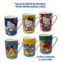 Taza Jarro Infantil De Porcelana Hello Kitty Angry Birds